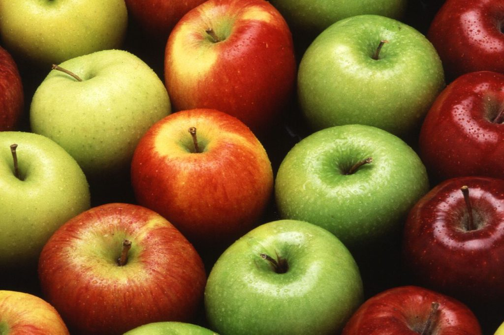 Apples ranked by color