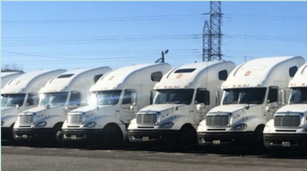 white semi trucks