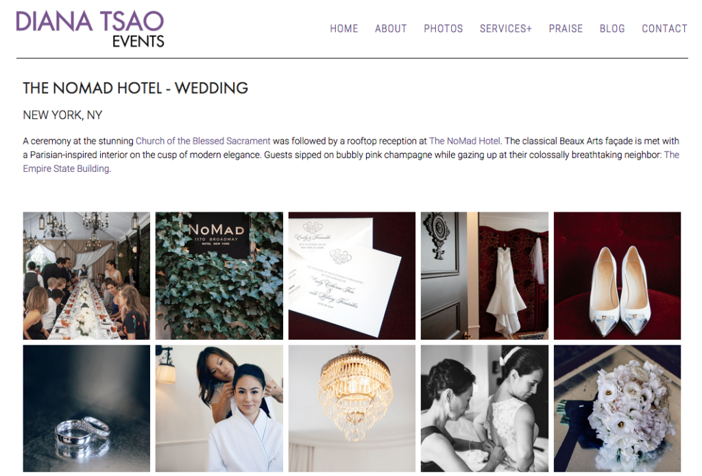 diana tsao wedding event