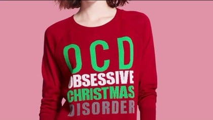 Target OCD Christmas sweater