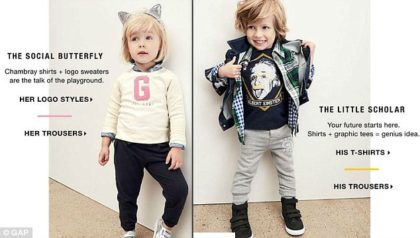 A misjudged ad by Gap Kids reinforcing negative gender sterotypes