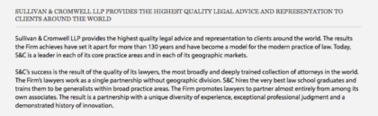 A traditional, boring description of a law firm