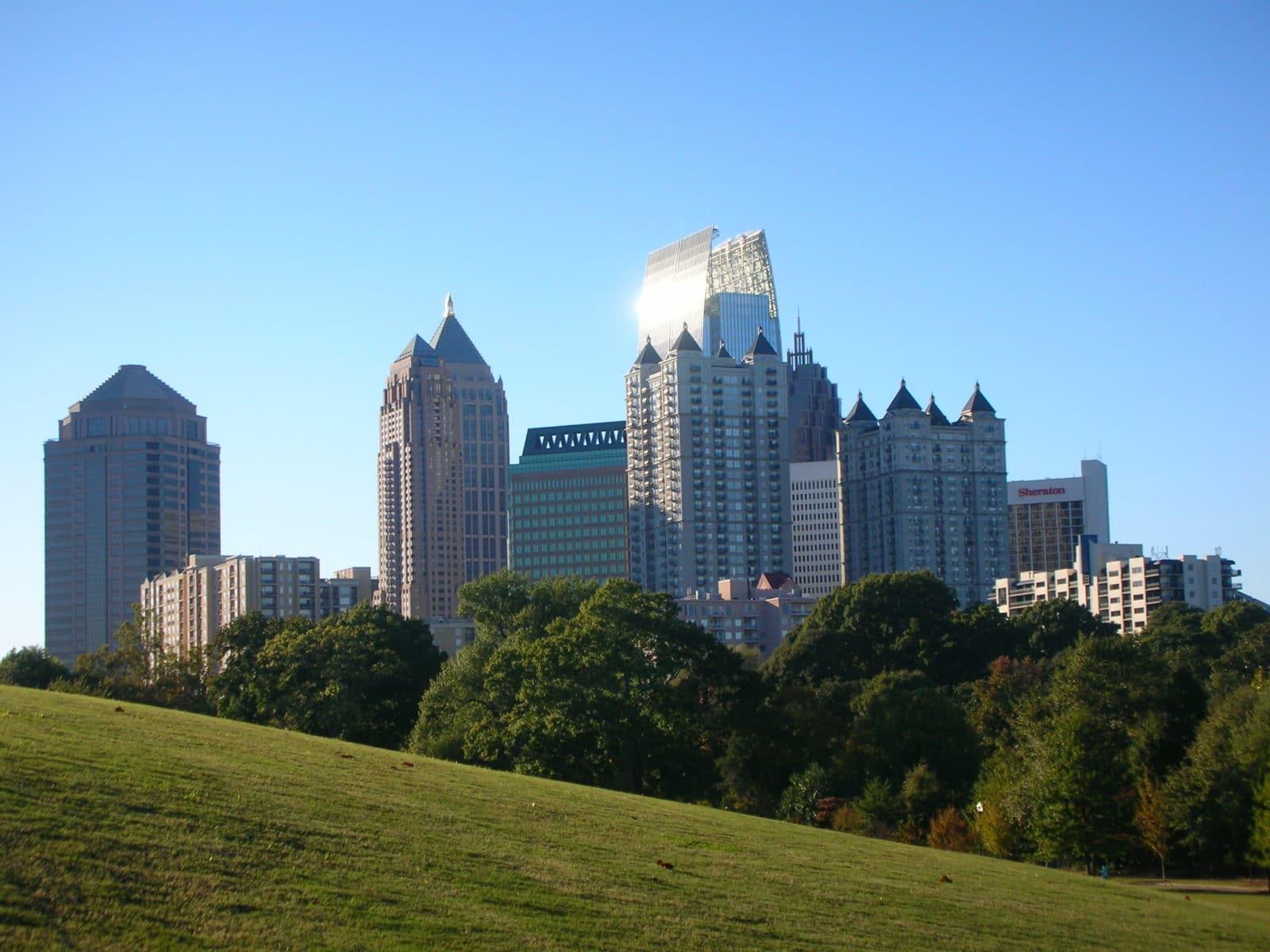 Atlanta skyline sunny day