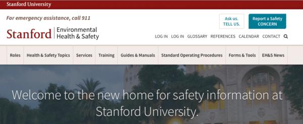 Stanford website screenshot