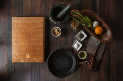Basic cooking ingredients and equipment