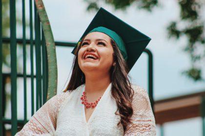 Laughing graduate