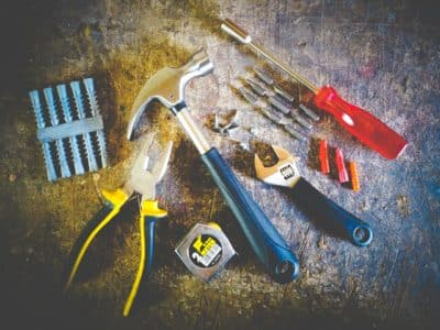Tools, hammer, pliers, screwdriver