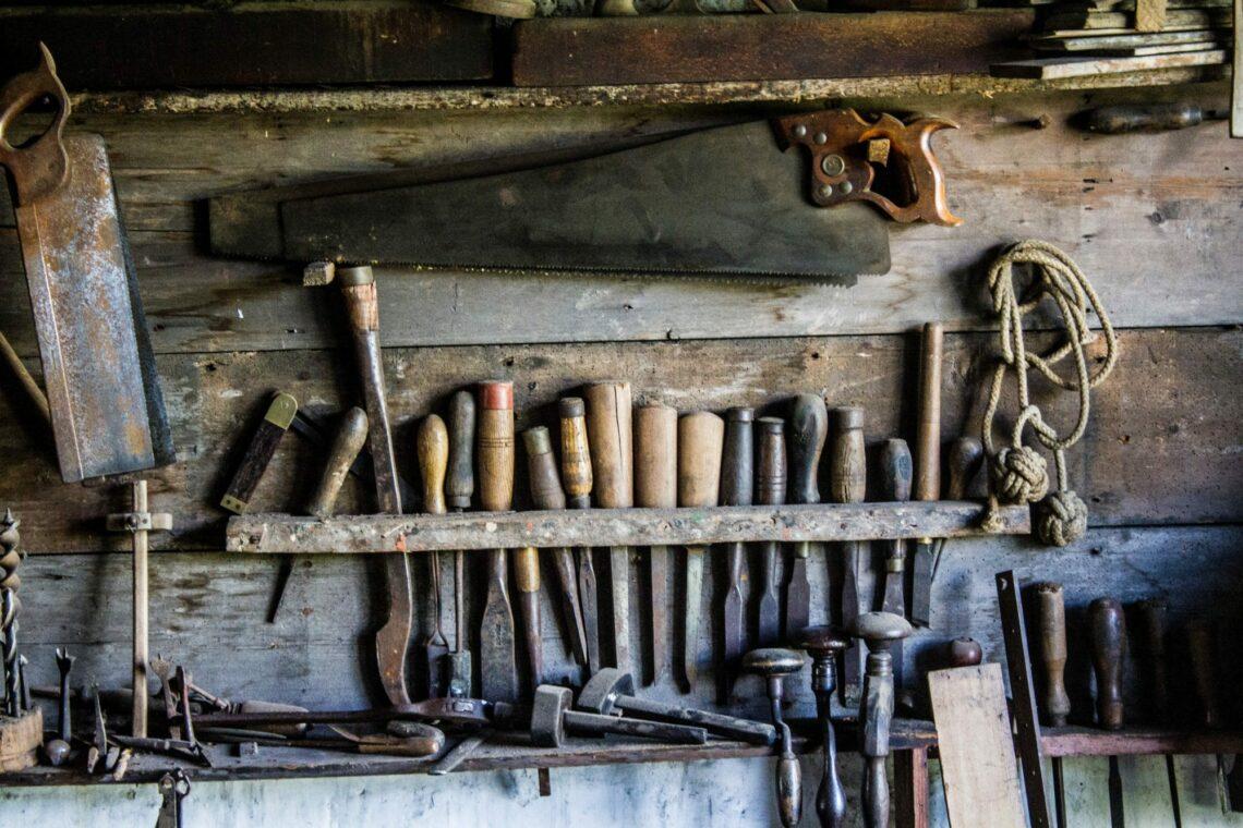 Tools on a shelf, the copywriter's toolbox