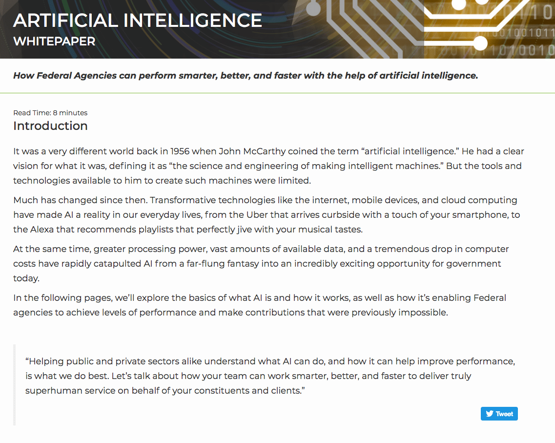 artificial intelligence white paper writers