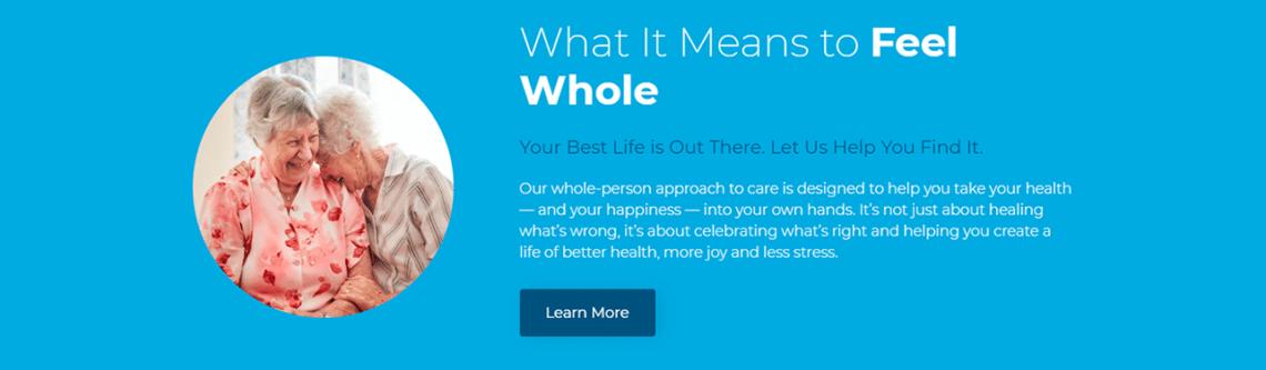 AdventHealth healthcare website copy