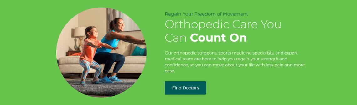 AdventHealth healthcare website copywriting