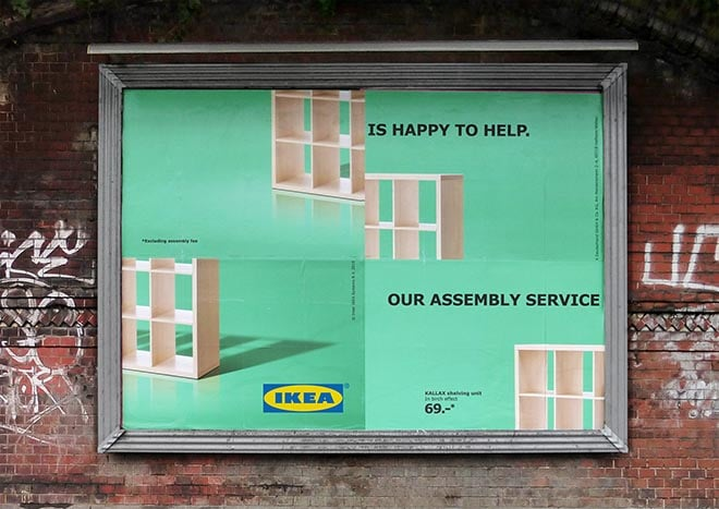 image of ikea self-deprecating marketing campaign
