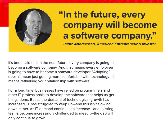 In the future, every company will become a software company.