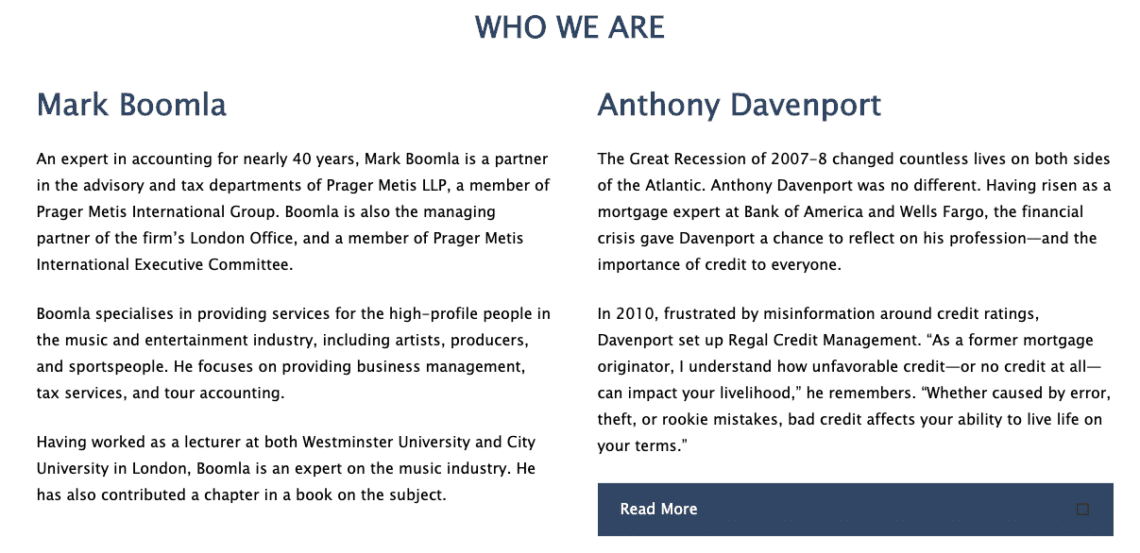 Anthony Davenport set up Regal Credit Management after the 2008 financial crisis.