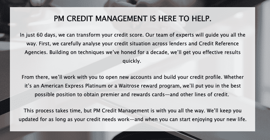 PM Credit Management Is Here To Help