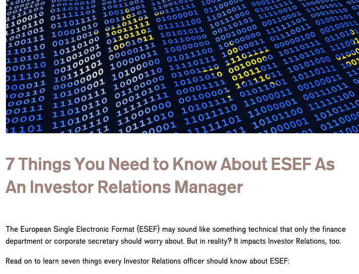 Thinks You Need To Know About ESEF