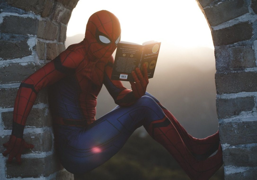 image of spiderman representing the hero of your brand story