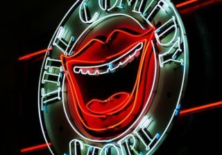 image of the comedy store sign representing copywriting lessons from comedy