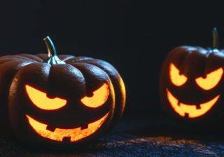 Halloween carved pumpkins