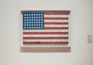 Painting of American flag.