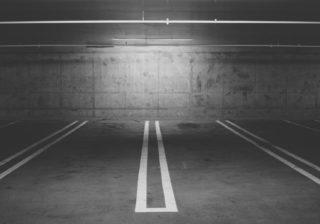 Creepy Empty Parking Lot