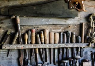 Tools on a shelf, the copywriter's toolbox