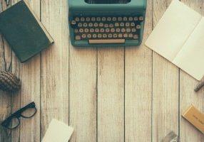 typewriter at desk
